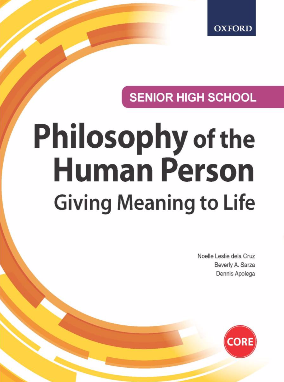 SHS Philosophy of the Human Person